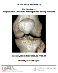 First announcement: 3rd Educational SSSR Meeting Basel 31st October 2015
