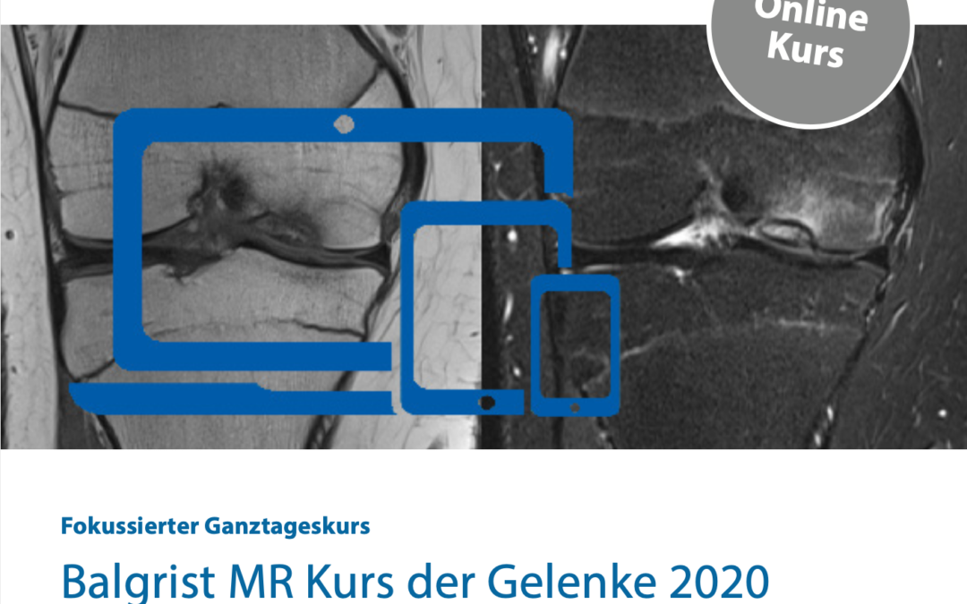 Balgrist MR Kurs der Gelenke 2020 «Virtual Edition»