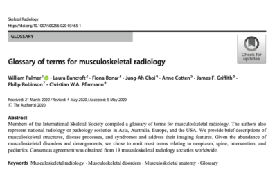 Glossary of terms for musculoskeletal radiology – Open Access  Jun 6, 2020